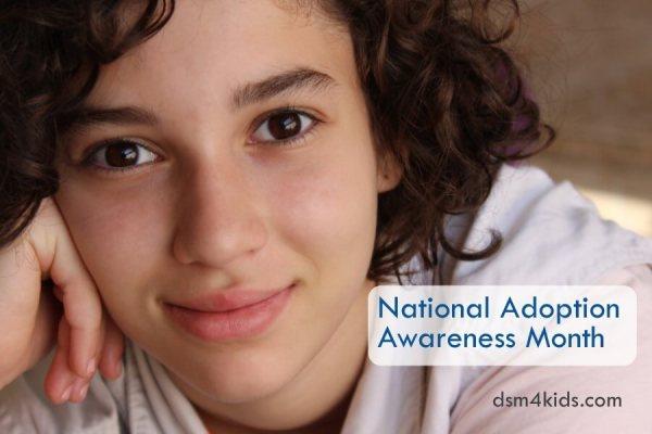 National Adoption Awareness Month - dsm4kids.com