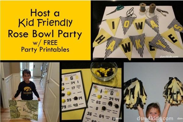 Host a Kid Friendly Rose Bowl Party - dsm4kids.com