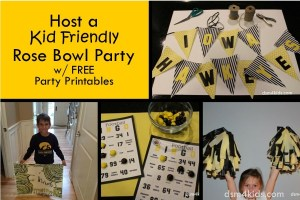 Host a Kid Friendly Rose Bowl Party - dsm4kids.com