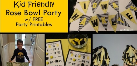 Host a Kid Friendly Rose Bowl Party