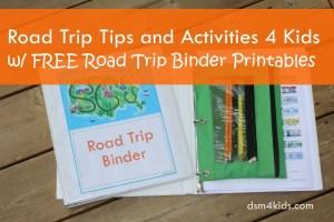 Road Trip Tips and Activities 4 Kids - dsm4kids.com