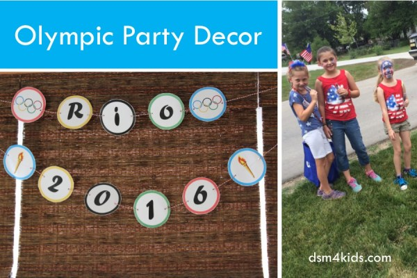 Host a Family Friendly Olympic Party – dsm4kids.com