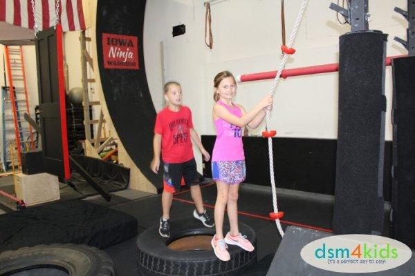 Ninja Warrior Birthday Parties at TGR Fitness in Des Moines- dsm4kids.com