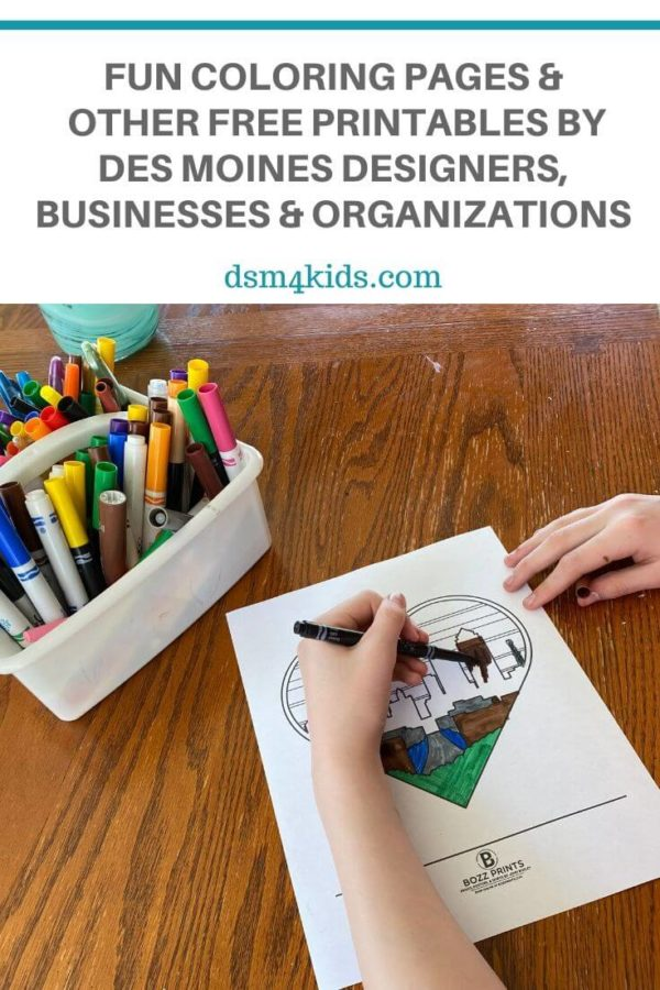 Fun Coloring Pages and Other FREE Printables by Des Moines Designers, Businesses & Organizations – dsm4kids.com