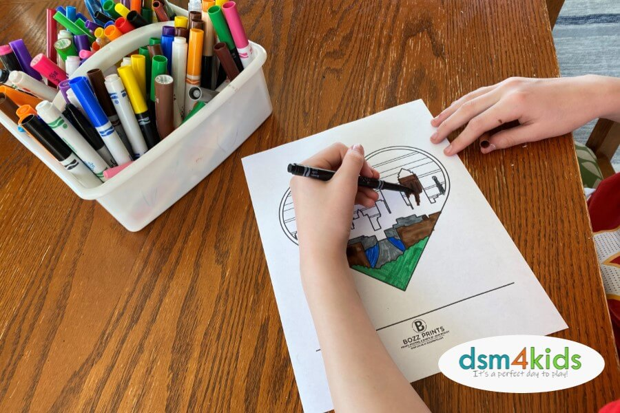 Fun Coloring Pages & Other FREE Printables by Des Moines Designers, Businesses & Organizations