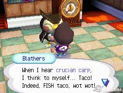 Blathers likes Fish Tacos...