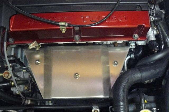 2006 evo exhaust manifold heat shield