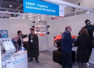 CADDY team welcomes visitors at our booth
