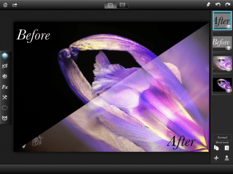 Ballerina Iris - Before and After