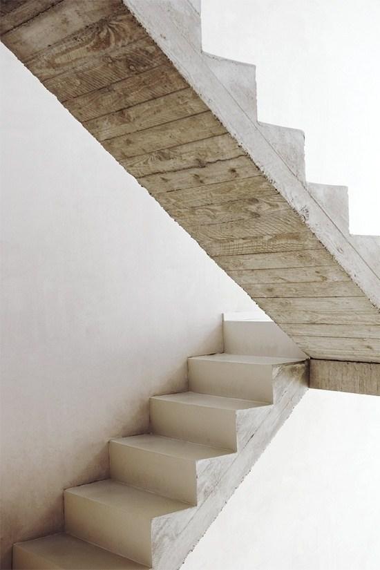 Concrete Staircase By Crepain Spaes Debie Architecten Interior   Interior Concrete Stairs Design   Architecture   House   White Matte Concrete   Urban   Dark Wood Modern