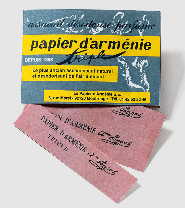 papier d armenie scented paper packaging design paper typography