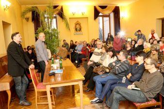 Зустріч з Юрієм Андруховичем та Юрієм Винничуком у міській бібліотеці ім. В'ячеслава Чорновола