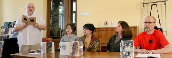 Зліва направо: Андрій Павлишин, Лідія Танушевська, Вей-Юн Лін-Ґурецька, Кеті Кантарія, Тапані Керккейнен