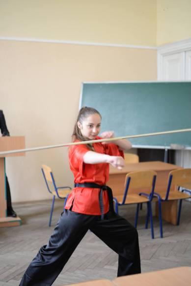 Виступ студентки соціально-гуманітарного факультету (гр. П-21Б) Валентини Крощук