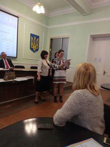 Нагородження студентки Оксани Кулик дипломом І ступеня