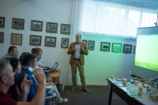 Директор ДІКЗ «Нагуєвичі» Богдан Лазорак презентує нові дослідження Франкового краю