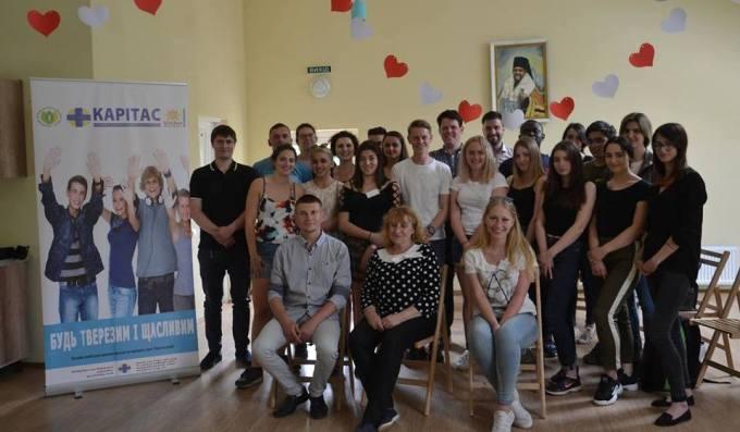 Учасники студентського українсько-бельгiйського проекту «Соцiальна інклюзiя» пiд час вiдвiдин реабiлiтацiйного центру «Назарет»