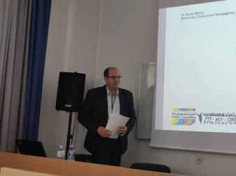 Наукова доповідь під час конференції доцента Павла Скотного