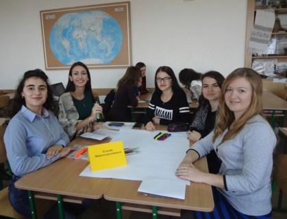 Групова робота студентiв на заняттi доцента Соломії Iлляш