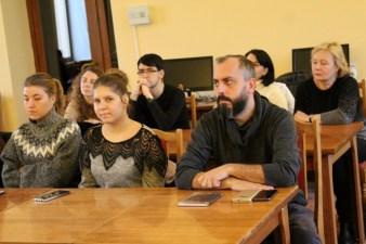 Під час презентації у Міській бібліотеці ім. В'ячеслава Чорновола