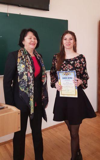 Нагородження Є. Корчиги дипломом ІІІ ступеня