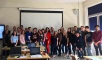 Фото на згадку з студентами