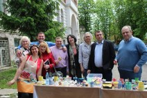 Інтеркультурна група викладачів під керівництвом ректора Надії Скотної