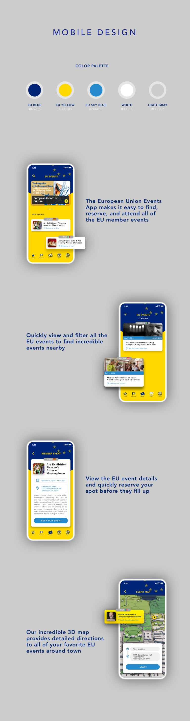 portfolio - mobile screens