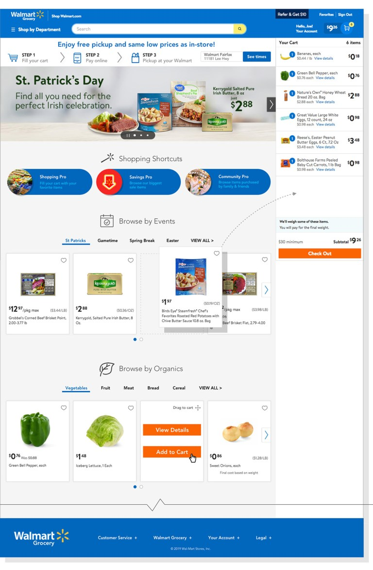 img - Walmart grocery website recommendations