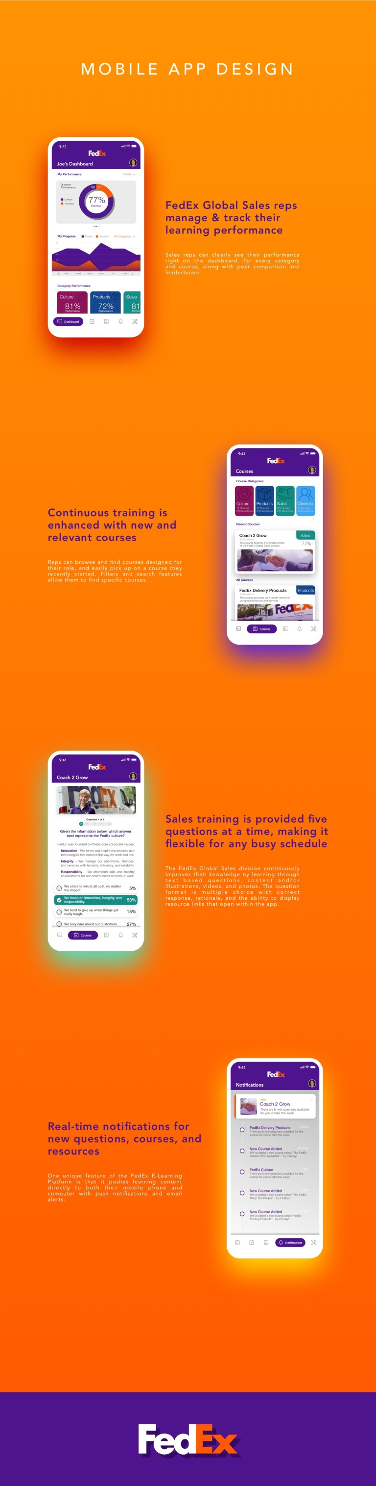 portfolio - fedex mobile screens