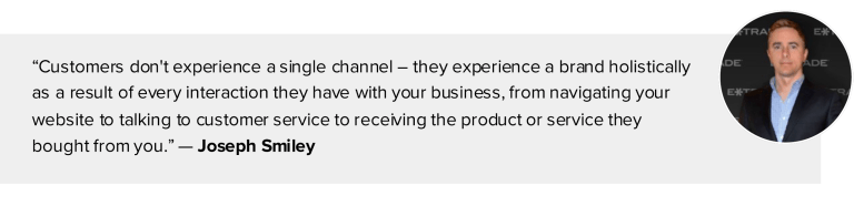 quote - creating consistent and secure customer experiences