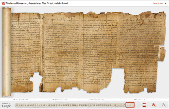View the Great Isaiah Scroll