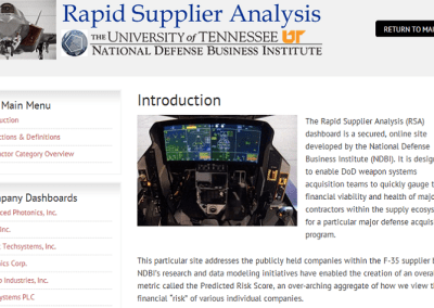 F-35 Rapid Supplier Analysis
