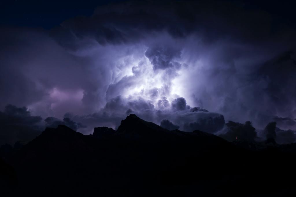 Blitz und Donner über Sargans