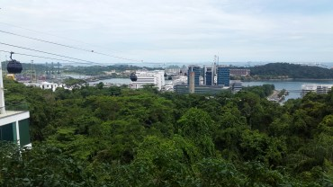 The view from the top of Mount Faber