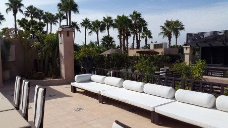 The roof terrace of our Riad