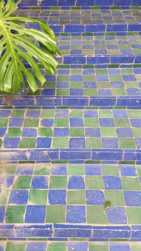 Tiled steps at the Jardin Marj