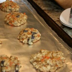 cooling cookies on cookie sheet