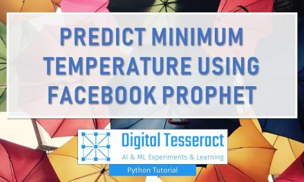 Facebook Prophet To Forecast Minimum Temperature