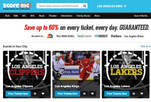 ScoreBig.com homepage