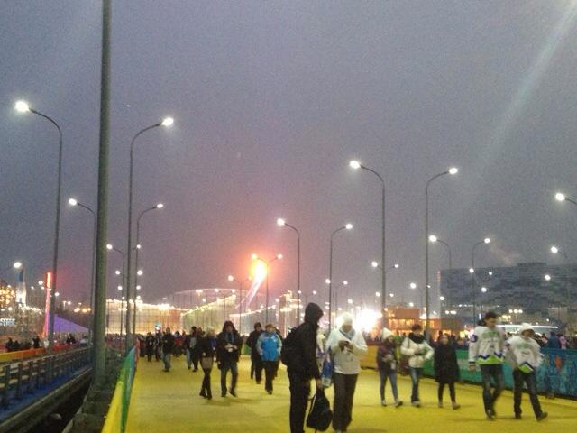 2014 Winter Olympics Sochi entrance at night