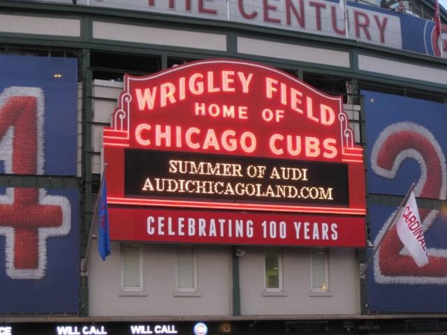 Wrigley Field marquee