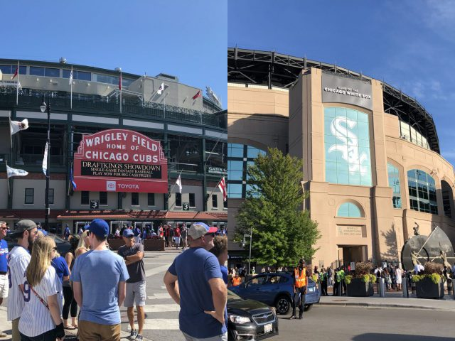 Wrigley Field Guaranteed Rate Field split Chicago baseball doubleheader