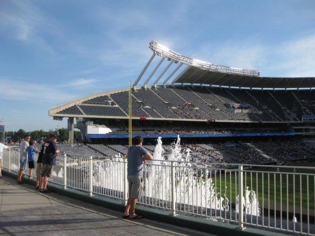 Kauffman Stadium fountains