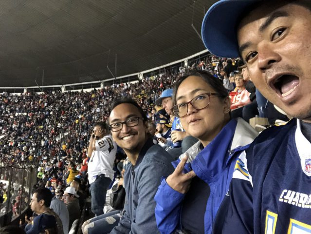 Mexico City at Chiefs-Chargers game - not attending a game alone