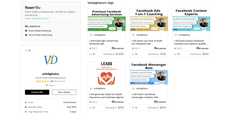 Fiverr Facebook Ads expert – VoltDigitalCo