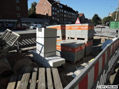Pflastersteine für den Bahnhofsvorplatz