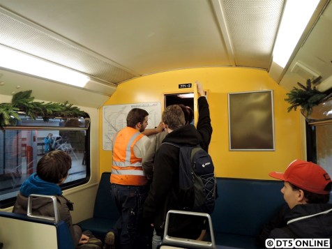 Innenraum: Die Fahrerraumtür war stets gut besucht.