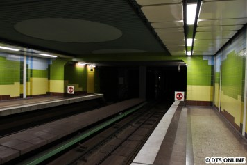 Bahnsteigende Richtung Niendorf Nord