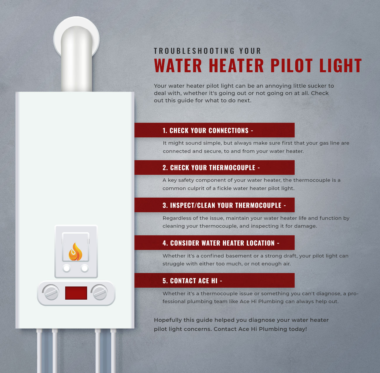 water heater pilot light from going out